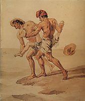 Forced to Swim, 1852, bryullov