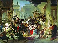 Genserich-s Invasion of Rome, 1835, bryullov