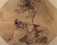 Greek lying on a rock, 1835, bryullov