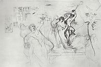 Hylas, Carried Along by the Nymphs in Water, 1827, bryullov