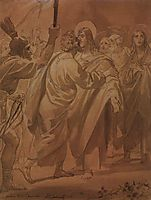The Judas kiss, 1847, bryullov