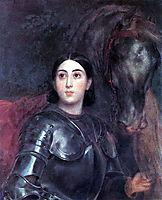 Juliet Tittoni as Jeanna D-Ark, 1852, bryullov