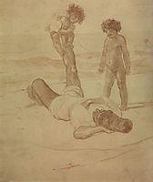 Lazzaroni and Children, 1852, bryullov