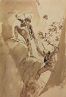 Mountain hunters, 1835, bryullov