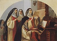 Nuns Convent of the Sacred Heart in Rome, 1849, bryullov