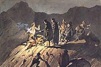 Participants of the expedition to Mount Vesuvius, 1824, bryullov