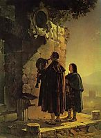 Pifferary in front of Madonna, 1825, bryullov
