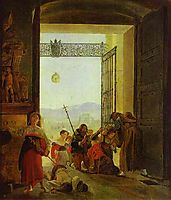 Pilgrims at the Entrance of the Lateran Basilica, 1825, bryullov