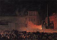 Political Demonstration in Rome in 1846, 1850, bryullov