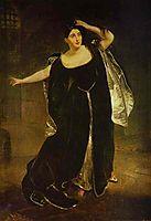 Portrait of the Actress Juditta Pasta as Anne Boleyn, 1834, bryullov