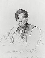 Portrait of Alexander Bruloff, 1826, bryullov