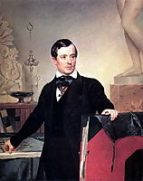 Portrait of the Architect and Painter Alexander Brulloff, c.1841, bryullov