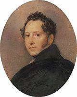Portrait of the Artist Sylvester Shchedrin, 1824, bryullov