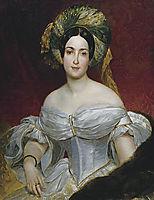 Portrait of Aurora Demidova, 1838, bryullov