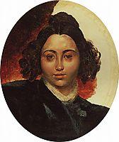 Portrait of Baroness I. I. Klodt, 1839, bryullov