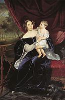 Portrait of Countess O. I. Orlova-Davydova and Her Daughter, 1834, bryullov