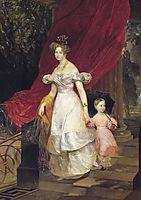 Portrait of Grand Duchess Elena Pavlovna and Her Daughter Maria, 1830, bryullov