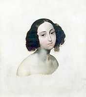 Portrait of Grand Duchess Olga Nikolaevna, 1841, bryullov