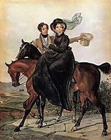 Portrait of K. A. and M. Ya. Narishkin, 1827, bryullov