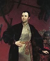 Portrait of M. A. Obolensky, 1846, bryullov