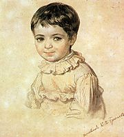 Portrait of Maria Kikina as a Child, 1820, bryullov