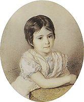 Portrait of Maria Kikina as a Child, 1821, bryullov