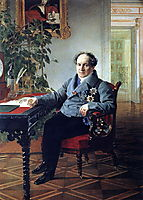 Portrait of a member of the State Council of the book A. N. Holytsyna, 1841, bryullov
