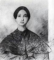 Portrait of P. Sokolova, the artist-s sister, 1836, bryullov