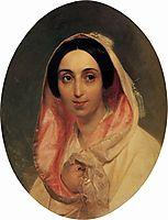 Portrait of Princess A. A. Bagration, 1849, bryullov