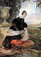 Portrait of Princess Ye. P. Saltykova, 1835, bryullov