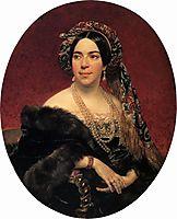 Portrait of Princess Z. A. Volkonskaya, c.1842, bryullov
