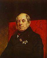 Portrait of S. G. Likhonin, 1841, bryullov