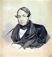 Portrait of S. A. Sobolevsky, 1832, bryullov