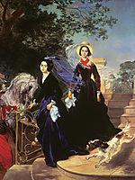 Portrait of the Shishmariov Sisters, 1839, bryullov