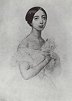 Portrait of the Singer Pauline Viardot Garcia, 1844, bryullov