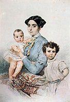 Portrait of Teresa Michele Tittoni with Sons, 1852, bryullov