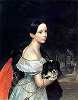 Portrait of U. M. Smirnova, 1840, bryullov