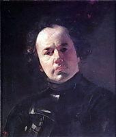 Portrait of Ya. F. Yanenko with Armour, 1841, bryullov