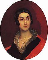 Portrait of Ye. I. Ton, 1840, bryullov
