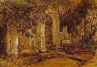 Ruins in Park, bryullov