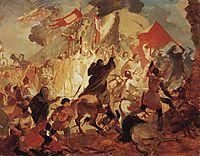 Siege of Pskov by Polish King Stefan Batory in 1581, 1837, bryullov