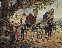 Stroll at Albano, 1833, bryullov