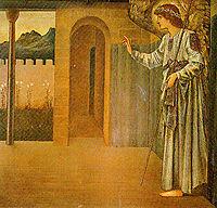 The Annunciation The Angel, burnejones