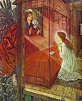 The Annunciation. The Flower of God, 1862, burnejones