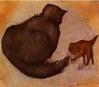 Cat and Kitten, burnejones