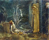 The Dream of Lancelot (Study), burnejones