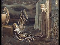 The Dream of Launcelot at the Chapel of the San Graal, 1896, burnejones