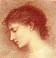 Head Study of Maria Zambaco (The Wine of Circe), burnejones