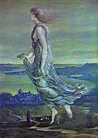 Hesperus. The Evening Star, 1870, burnejones