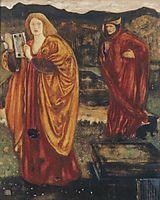 Merlin and Nimue, 1861, burnejones